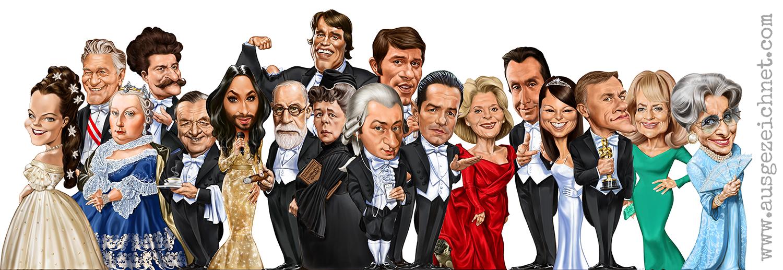 austrian celebrities I AM FROM AUSTRIA_caricature_karikatur