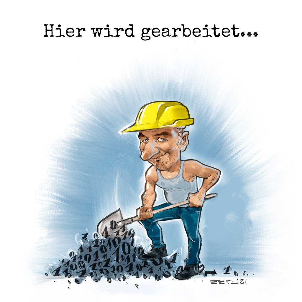 Arbeits Karikatur Bernd Ertl