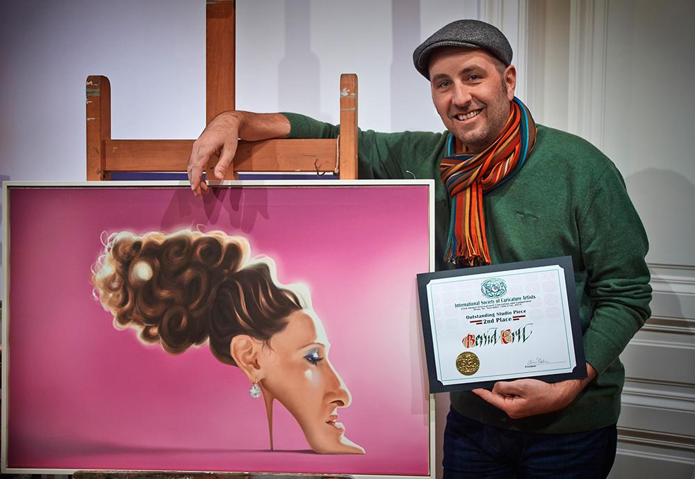 sarah jessica parker karikatur caricature bernd ertl isca award