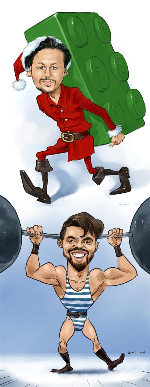 weihnachtsfeier firmenfeier karikaturen schnellzeichner _